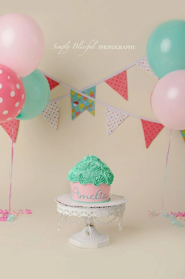 first birthday invitation template india%0A Aqua  coral and light pink cake smash  Wanted a blue background  wood floor