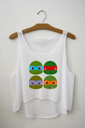 Here is our amazing Ninja Turtle Inspired crop top.