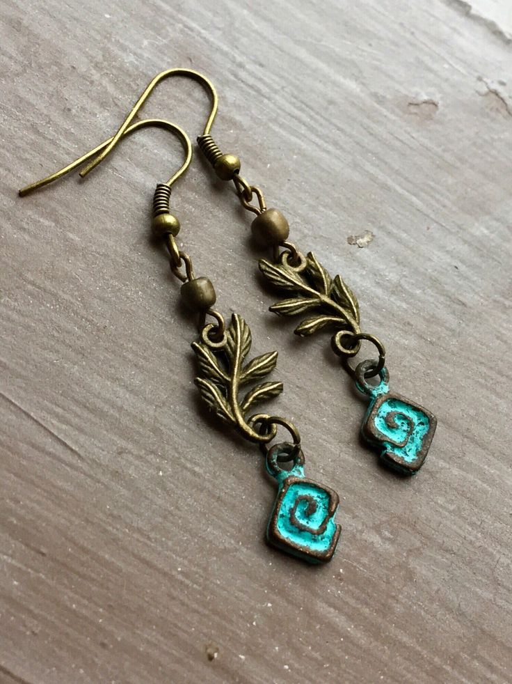 Bronze earrings, greek key earrings, meander earrings,bohemian earrings, mediterranean earrings, mediterranean jewellery, uk seller by YouHadMeAtBoho on Etsy https://www.etsy.com/uk/listing/604570261/bronze-earrings-greek-key-earrings