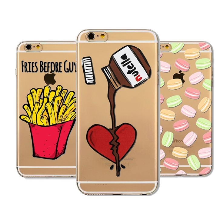 1.99$  Buy here - Funny Emoji Case For iphone 5 5s SE Macaroons French fries New Design Cover Clear TPU Transparent Protective Coque Fundas   #magazine