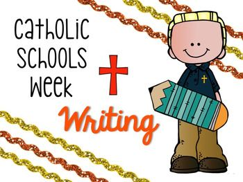 This file contains 15 writing prompts to use during Catholic Schools Week. You can project them full screen on an interactive whiteboard OR print, cut and distribute slips that contain the writing prompt.There are 6 pages of writing paper if you choose to have your students publish their writing.Check out my other Catholic Schools Week Resources here:Catholic Schools Week ResourcesI hope this product is helpful!Grace and Gratitude