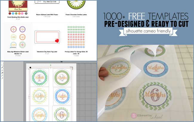 PDF & Print - Free Templates for stickers and labels to download
