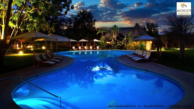 Beautiful swimming pools at Mokuti Etosha Lodge. http://www.accommodation-in-southafrica.co.za/Namibia/Tsumeb/MokutiEtoshaLodge.aspx