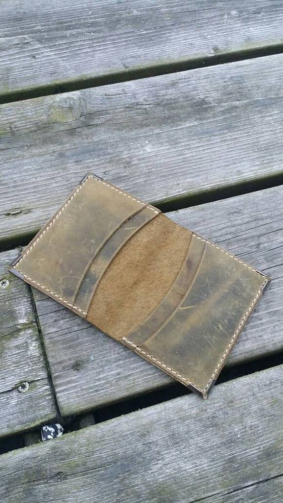 Check out this item in my Etsy shop https://www.etsy.com/nl/listing/398926359/distressed-leather-minimalist-cardholder