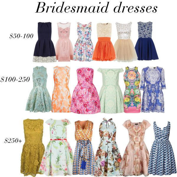 Patterned Bridesmaid Dresses by alexandradproie