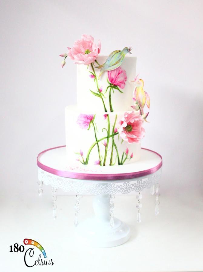 The Love Bird's Story - Wedding Cake by Joonie Tan - http://cakesdecor.com/cakes/233662-the-love-bird-s-story-wedding-cake