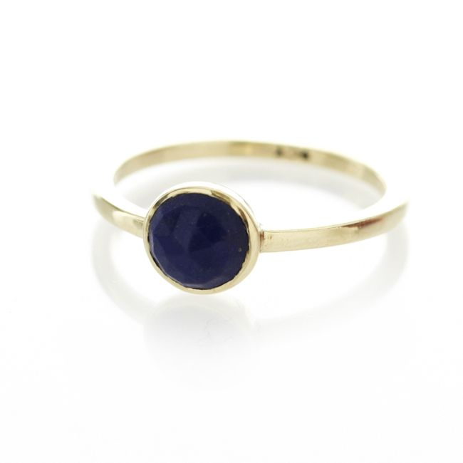 Dear Rae Jewellery | A one of a kind 9ct yellow gold ring, with centered lapis lazalulite semi-precious stone. #dearraejewellery #dearrae