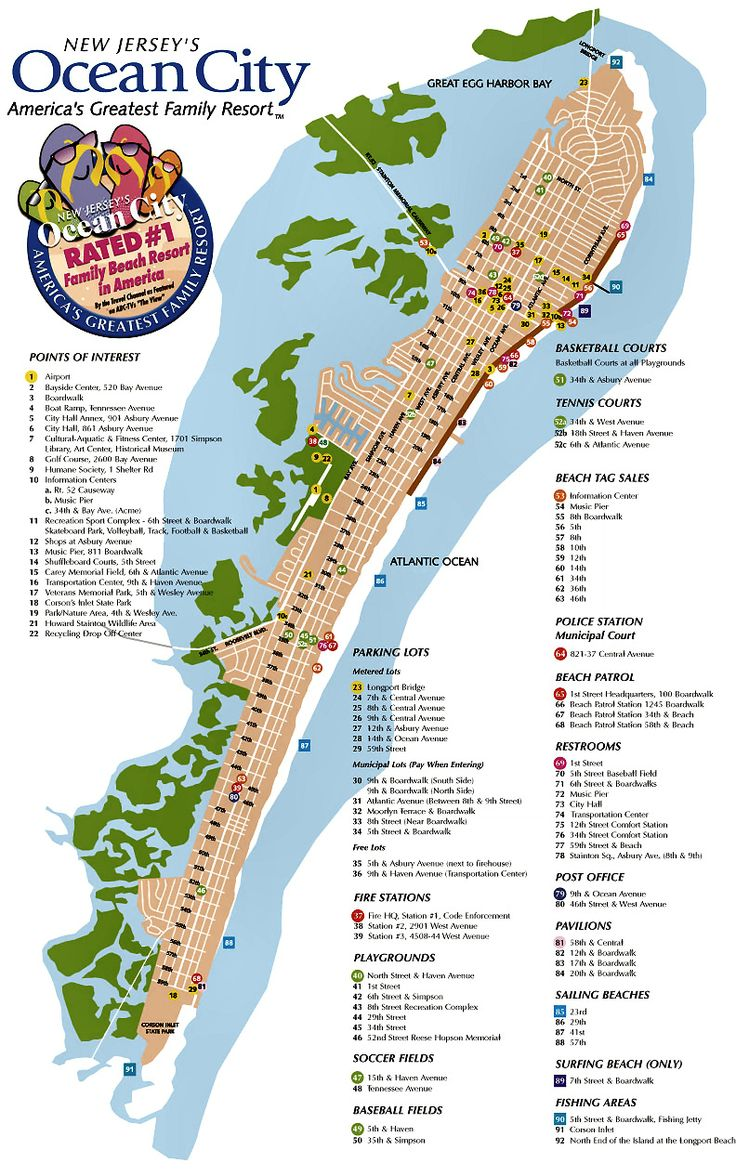 Ocean City NJ Street Map