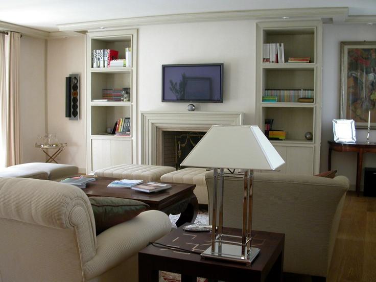 Traditional living room in bleached oak **  Soggiorno classico in rovere sbiancato
