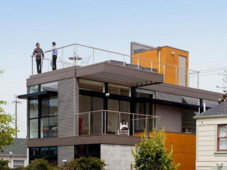 Awesome dwell prefab homes rooftop deck prefab homes