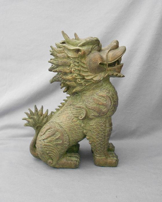 Ferocious Chinese Foo Dog Dragon Lion in FOO DOGS