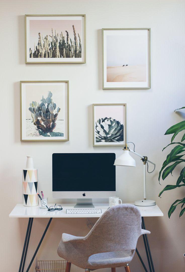 Sprucing Up Our Space Home Office DesksOffice SpacesSimple DeskPalm SpringsOutdoor