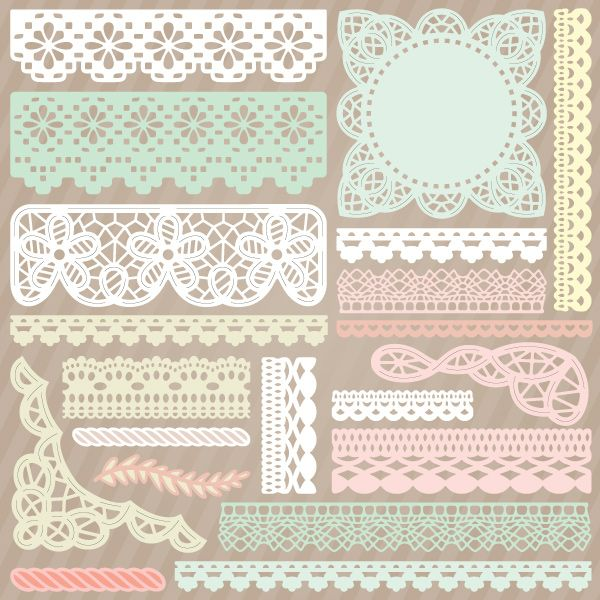 Battenburg Lace and Crochet Trim SVGCuts.com