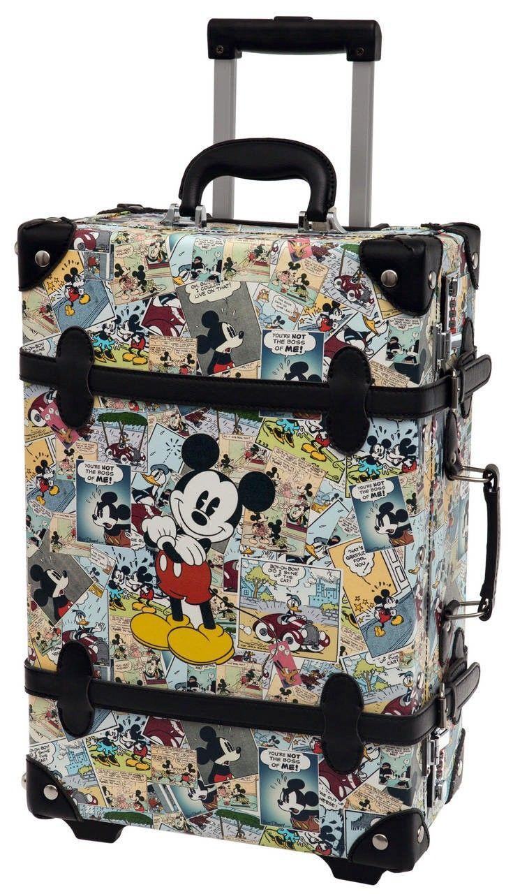 Increíble maleta disney de Mickey modelo Comic,  con un diseño vintage realmente increíble, es de tamaño de cabina ideal para llevar como equipaje de mano
