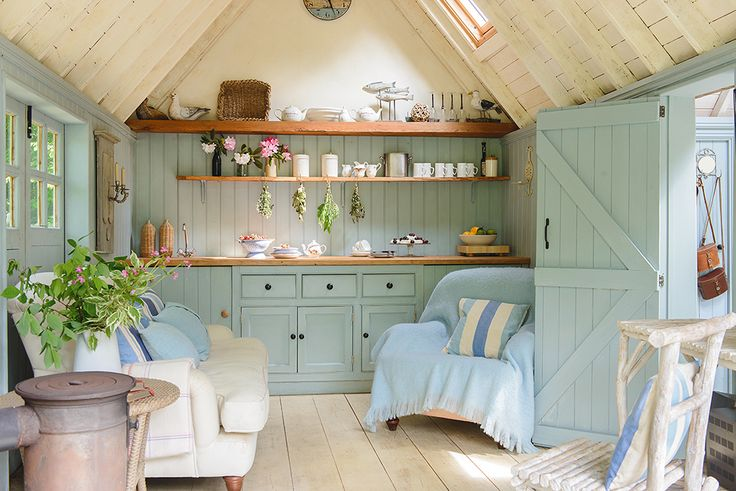 Linda Kilburn transformed the bottom of her garden and created a relaxed new living space when she built a charming summerhouse on the waterside