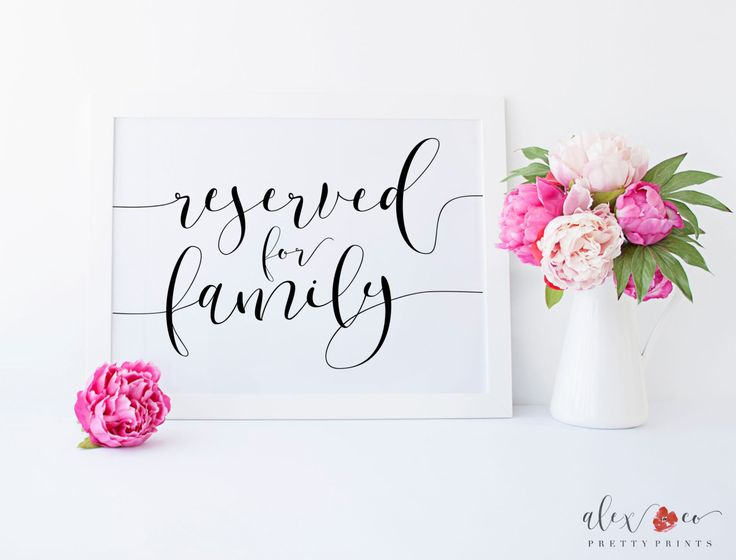 Wedding Reserved Sign Table Signs For Diy