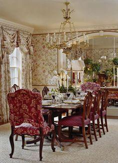 Beautiful dining room. Rinfret, Ltd. #Home #DiningRoom ༺༺ ❤ ℭƘ ༻༻