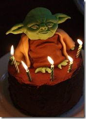 Yoda cake tutorial