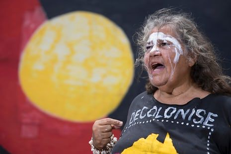 June Mills, Larrakia Elder,  says Australia's national day should be celebrated on 3 June, the date the principle of terra nullius was overturned. Photograph: Jonny Weeks for the Guardian