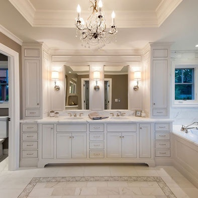 ranch remodel traditional bathroom san francisco jca architects two mirrors with sconces