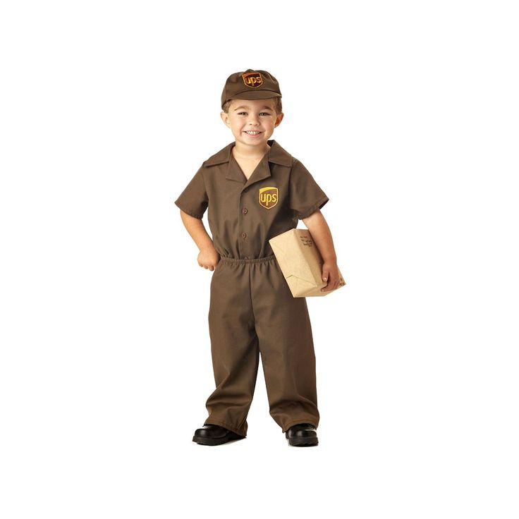 The UPS Guy Costume - Toddler, Boy's, Size: 2T-4T, Multicolor