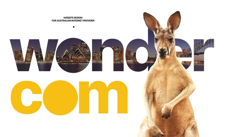 Simple and clean redesign of Australian Internet Service Provider — Wondercom. One product, best price and fastest way to be connected.