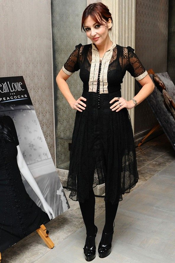 Pearl Lowe. Love the dress - love Pearl.
