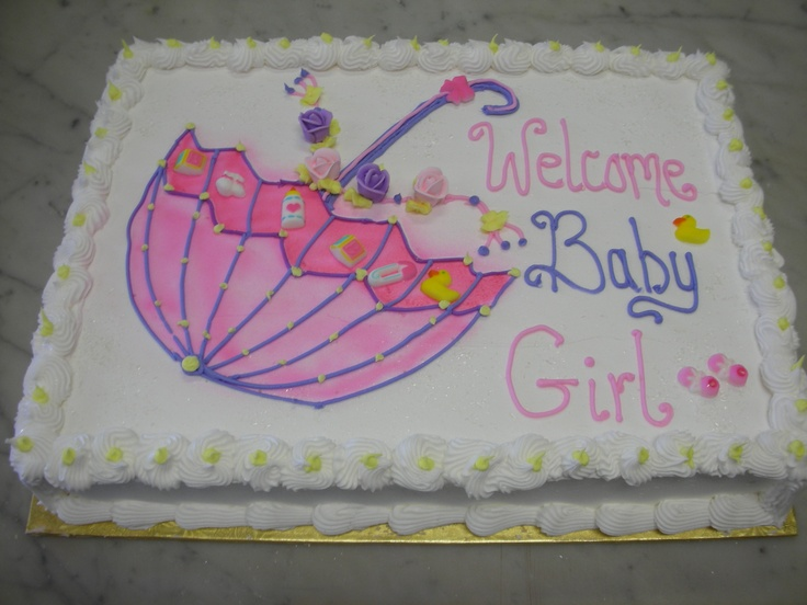 baby shower sheet cake ideas girl umbrella sheet cake baby shower