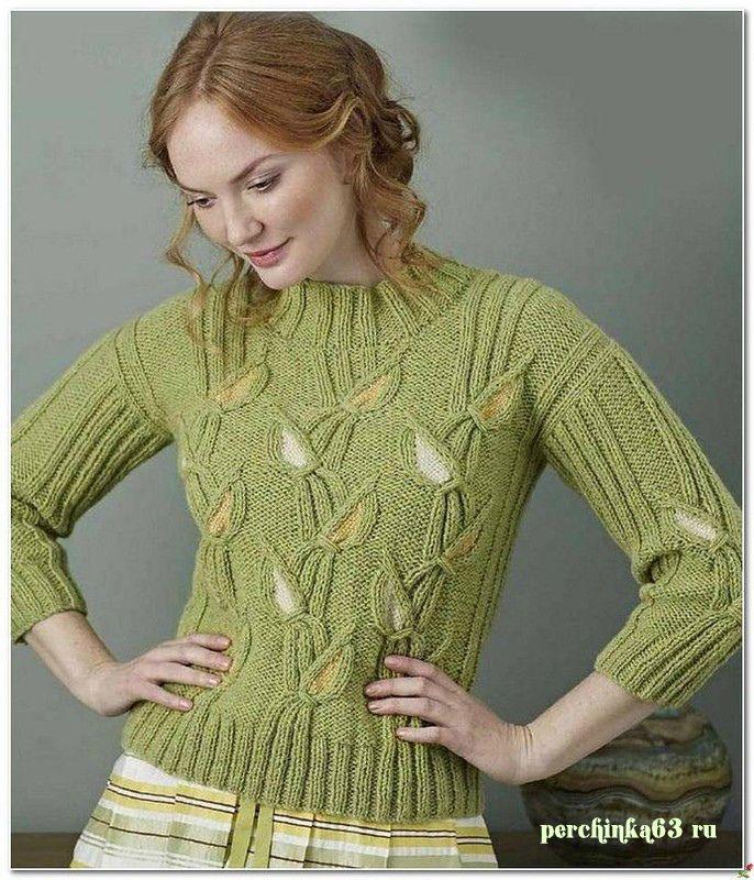 Шикарный пуловер гладиолусы - Perchinka63