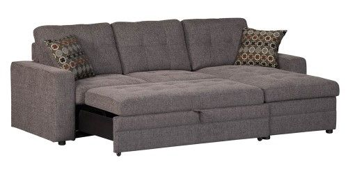 Storage Sectional Sofa with Pull-Out-Bed   Jet.com