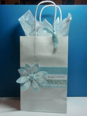 105 best decorated gift bags images on pinterest brown bags stamping reflections stamped gift bag stampin up style negle Gallery