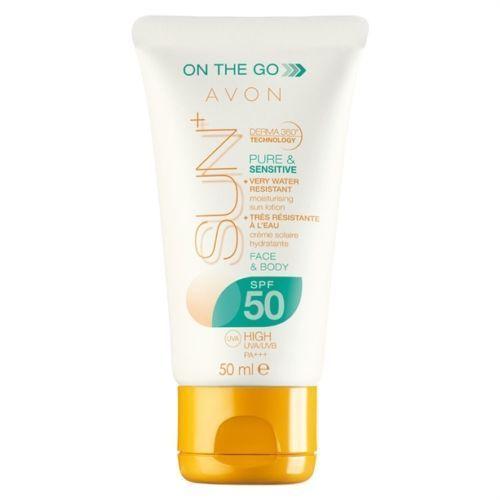 AVON SUN+ Gesichtscreme für empfindliche Haut, 50 ml - LSF 50