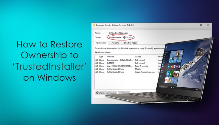 How to Restore 'TrustedInstaller' Ownership to Files, Folders, and Drives on Windows 10.   ✅ #windows +Downloadsource.net