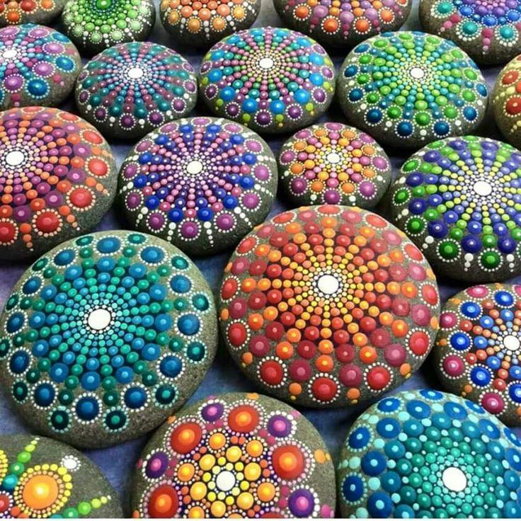 Beautiful rock painting