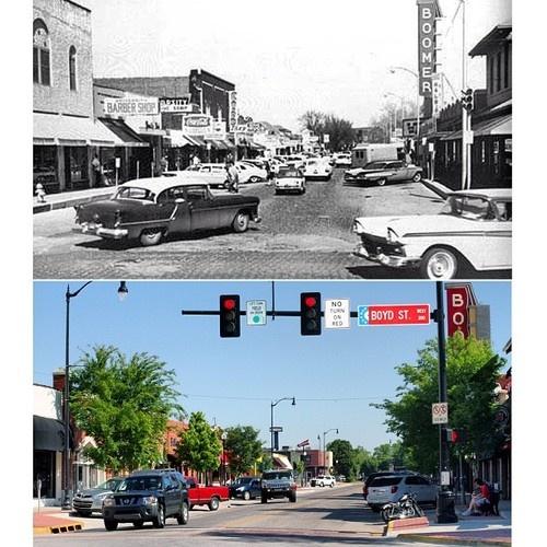 Campus Corner, Norman, Oklahoma #transformationtuesday