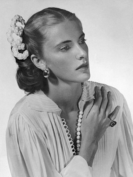 "Photo by Man Ray. I think this is socialite Nancy ""Slim"" Keith."