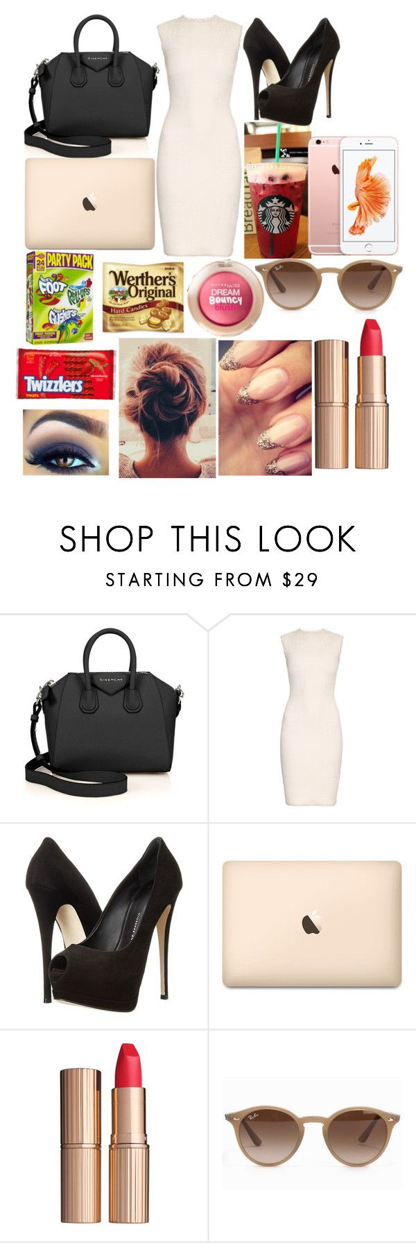 """Work Day Outfit"" by sofi-the-first1912 on Polyvore featuring Givenchy, Alexander McQueen, Giuseppe Zanotti, Charlotte Tilbury, Ray-Ban and Maybelline"