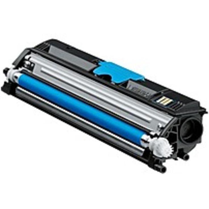 Konica Minolta A0V30HF High-Capacity Laser Toner Cartridge for Magicolor 1600 Series 1600W, 1650EN, 1680MF, 1690MF Printers - 2500 Pages Yield - Cyan