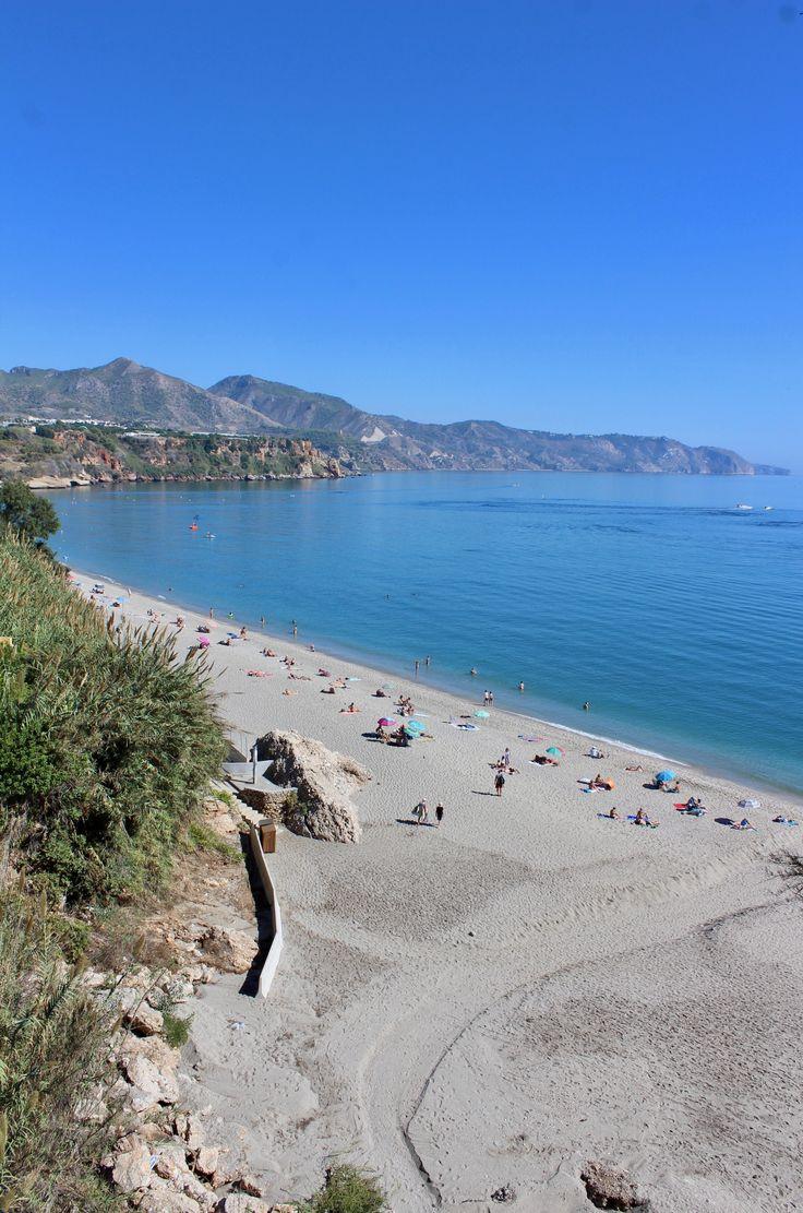 Malaga beach Nerja blog