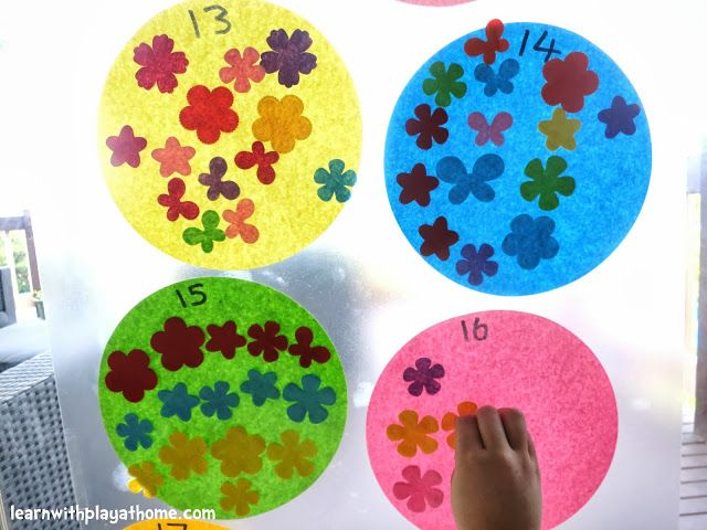 Learn with Play at home: Counting and Number Recognition Sticky Wall Activity