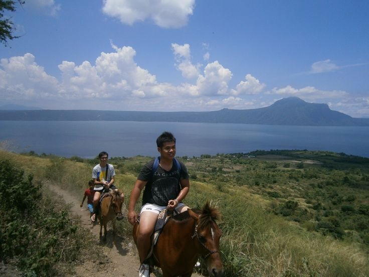 Riding up to the Taal Volcano in Tagaytay, the Philippines