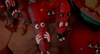 New trending GIF on Giphy. wtf terrified hot dogs wtf? sausage party. Follow Me CooliPhone6Case on Twitter Facebook Google Instagram LinkedIn Blogger Tumblr Youtube