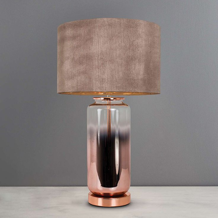 Metalic Ombre Copper Glass Table Lamp Dunelm Glass Table Lamp
