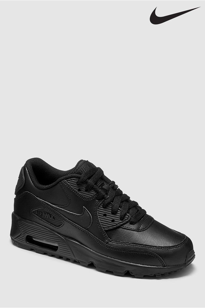 Boys Nike Air Max 90 Youth Trainers Black In 2020 Nike Air Max For Women Air Max 90 Black Nike Air Max Black