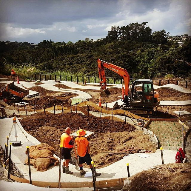 Birkenhead pump track really taking shape #bespokelandscape #birkenheadpumptrack #aucklandcouncil