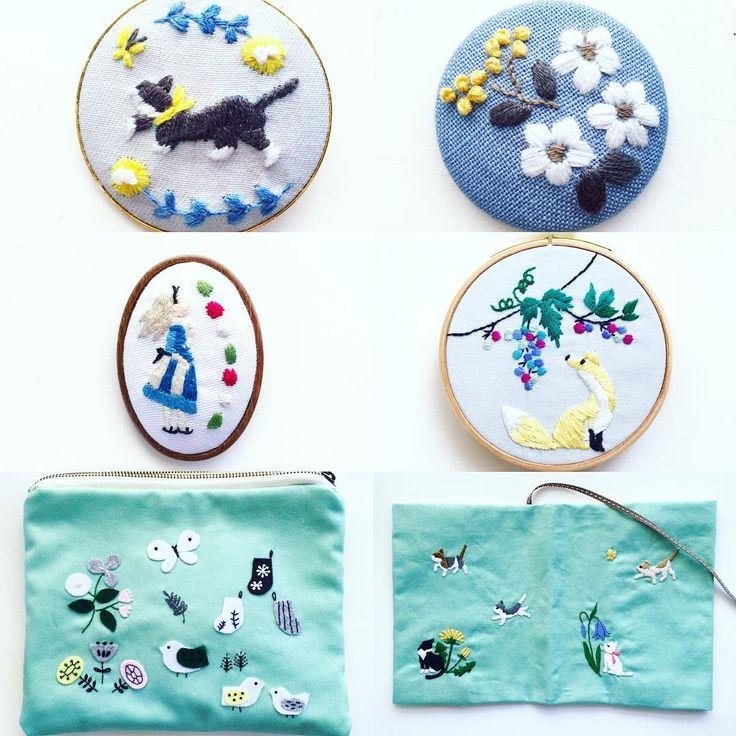 西荻窪の刺繍教室『アンナとラパン』参加者さんの作品。 今日もかわいい作品をたくさん見せていただきました! 下のは、ポーチとブックカバーです☆ ・ ・ #手仕事 #handmade #handembroidery #刺繍 #手刺繍 #embroidery #embroidered #needlework #手芸 #ステッチ #stitching #刺しゅう #暮らしを楽しむ #ハンドメイド #자수 #вышивка #broderie #ししゅう #日々 #暮らし #丁寧な暮らし #日々の暮らし #手作り #ハンドメイド #手芸 #ハンドメイド #暮らしを楽しむ #暮らしを愉しむ #花のある暮らし #アリス #alice