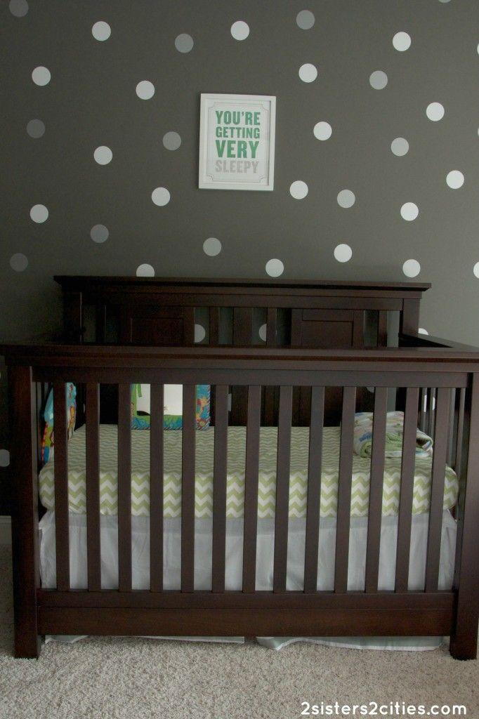 Baby N's Gray and Green-Themed Nursery | Gray nurseries ...