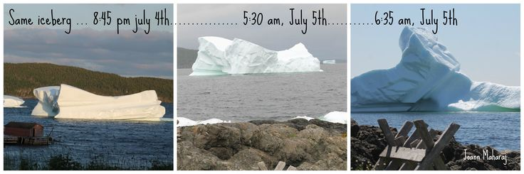 hard to believe how fast those icebergs can change