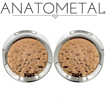 "1"" Standard Eyelets in ASTM F-138 stainless steel with Hammered Copper Inserts"