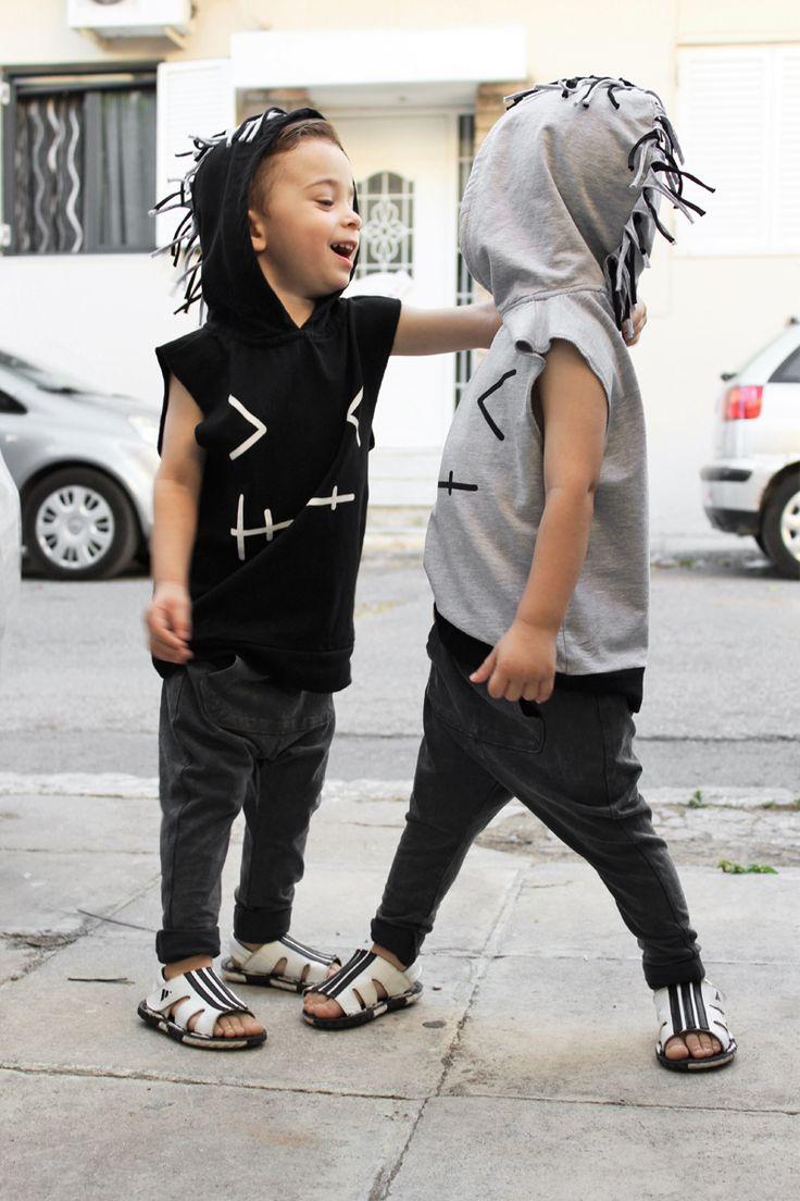 KAMIMI 2016 summer t shirt boys girls clothes sleeveless hoodies children…